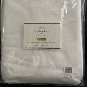 New Pottery Barn Curtains/Drapes Pole Top